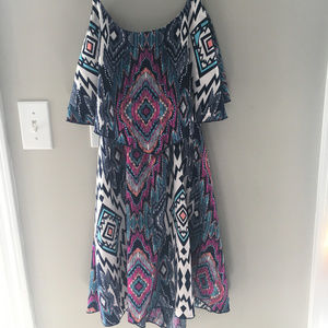 Tribal Print Cutout Back Charlotte Russe Dress